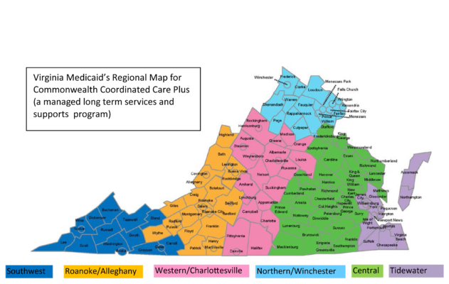Virginia Commonwealth Coordinated Care Plus (CCC+) Map