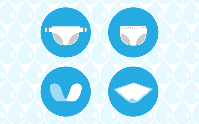 types of incontinence products